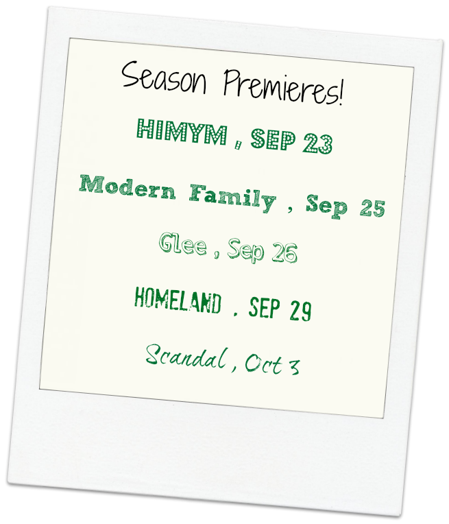 Season Premieres Fall Countdown
